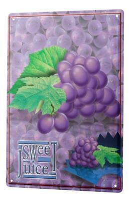Tin Sign Holiday Travel Agency Sweet Grapes Juice • 5.58£