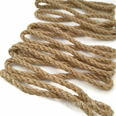 Natural Jute Rope DIY Craft Twisted Twine Braided Cord String Price Per Metre • 6.99£