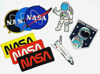 SPACE SHUTTLE NASA ASTRONAUT Embroidered Iron On Sew On Patch • 2.39£