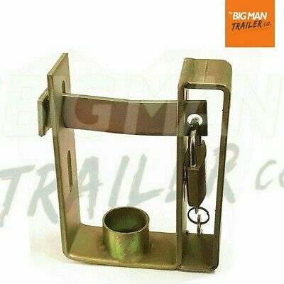 AU19.50 • Buy Trailer Hitch Coupling Lock Heavy Duty 2 Stage Universal Security + Padlock  SB