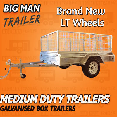 AU2722.92 • Buy 7x5 Single Axle With Cage And Ramp Medium Duty Galvanized Box Welded Trailers