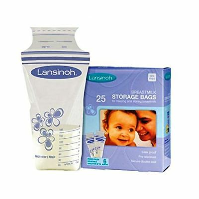 Lansinoh Breast Milk Storage Bags Freezer Pouches Pots Breastfeeding- 25 Pack • 6.80£