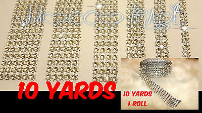 9m Length Silver Diamante/ Diamonte Rhinestone Effect Mesh Ribbon Cake Trim  • 3.59£