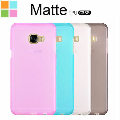 AU3.99 • Buy TPU Gel Siliconet Matte Sof Jelly Grip Case Back Cover For Samsung Galaxy Models