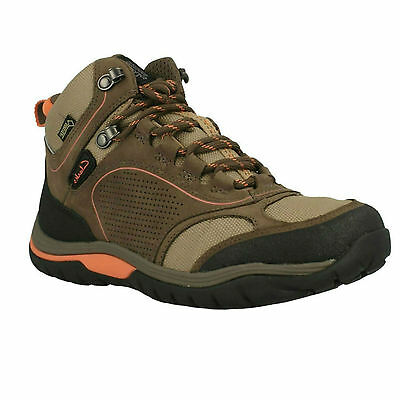 Intour Route Gtx Ladies Clarks Lace Up Nubuck Gore Tex Walking Waterproof Boots • 69.99£