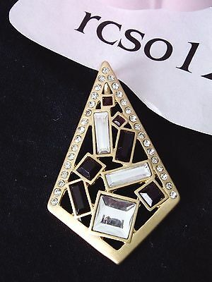 $ CDN15.05 • Buy Lovely Lia Sophia DUSK 'TIL DAWN Slide / Pendant, Cut Crystals,  NWOT