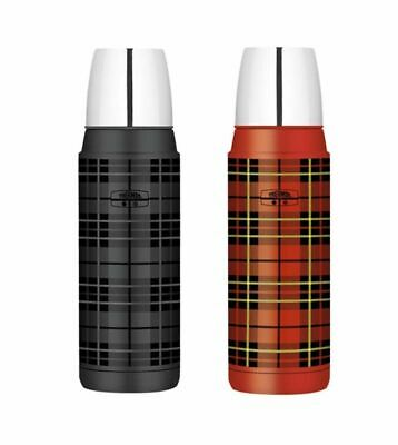 AU42.95 • Buy NEW THERMOS 470ml INSULATED FLASK Stainless Steel Bottle Tartan Plaid  RED GREY