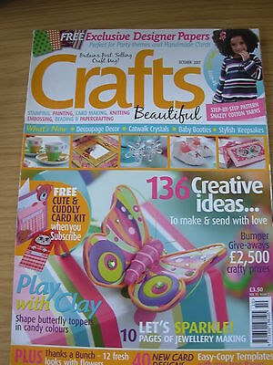 Crafts Beautiful Craft Magazine October 2007 136  Creative Ideas Cards Gifts +++ • 4.99£