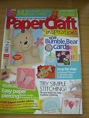 Papercraft Inspirations Craft Magazine Oct 2009 142 Ideas Cards Christmas Baby • 4.99£