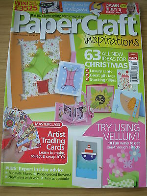 Papercraft Inspirations Craft Magazine Nov 2007 63 Christmas Ideas  Halloween • 4.99£