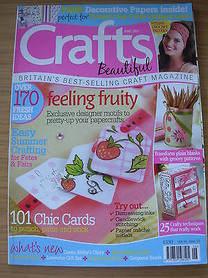 Crafts Beautiful Craft Magazine June 2007 170 Ideas Cards Papercraft Stamping+++ • 4.99£