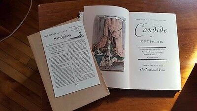 $38 • Buy CANDIDE OR OPTIMISM By Francois Marie Arouet De Voltaire HERITAGE CLUB