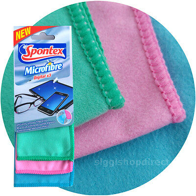 Pack Of 3 Premium Microfibre Cleaning Cloth Camera Lens Glasses TV IPad IPhone  • 3.99£