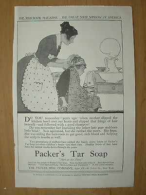 Vintage 1915 Advertisement - Packer's Tar Soap - Pure As The Pines • 5.99£