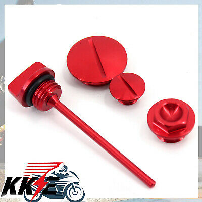 $26.99 • Buy Engine Plugs And Oil Dipstick For Honda CRF250R CRF250X CRF450X 04-15 Red Short