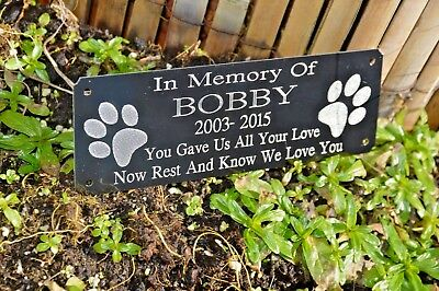 £9.99 • Buy Pet Memorial Plaque Personalised Grave Marker Dog /cat Various Options To Choose
