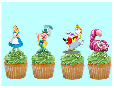 £2.95 • Buy Alice In Wonderland Edible Stand Up Cake Toppers Decorations Premium Wafer Card