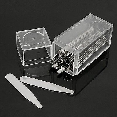 $12.50 • Buy 40 Metal Collar Stays + 10 Magnets For Men Shirts 4 Various Sizes In Clear Box