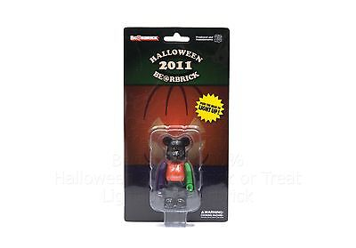 $25 • Buy Medicom Toy Bearbrick 100% HALLOWEEN 2011 Be@rbrick Can Light Up Trick Or Treat