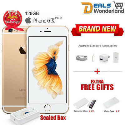 AU419.99 • Buy New Sealed Box Apple IPhone 6S Plus + 128GB Mobile Phone Amber Gold Unlocked