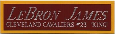 AU16.31 • Buy LEBRON JAMES CAVALIERS NAMEPLATE FOR AUTOGRAPHED Signed JERSEY-BASKETBALL-PHOTO