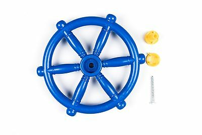 BLUE PIRATE SHIP BOAT STEERING WHEEL CLIMBING FRAME Playhouse Tree Jungle GYM • 11.59£