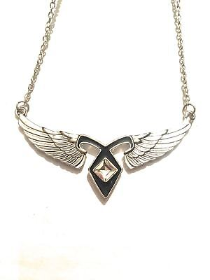 The Mortal Instruments Necklace Power Rune Angelica Jace Wings Rhinestone • 23.41£