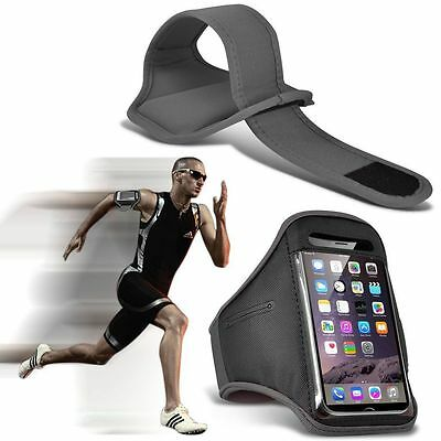 Quality Sports Armband  Gym Running Workout Belt Strap Phone Case Cover✔Grey • 4.95£