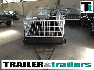 AU1330 • Buy CAGE TRAILER 7x4 - HEAVY DUTY - 2FT CAGE - NEW WHEELS - AUSTRALIAN MADE
