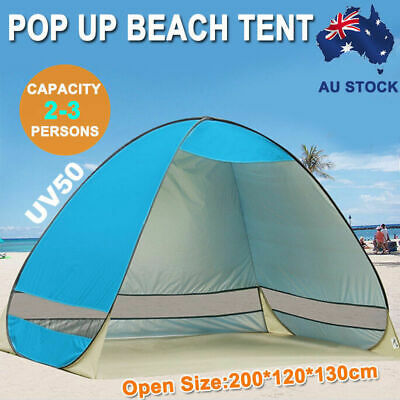 AU28.99 • Buy Pop Up Camping Tent Beach Portable Hiking Sun Shade Shelter Fishing 4 Person
