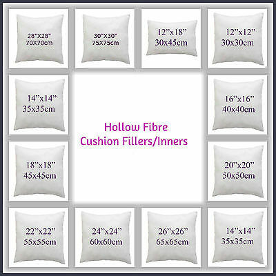 £2.99 • Buy 100% Hollowfibre Cushion Pads~Filler~inners 12  14  16  18  20  22  24  26 28 30