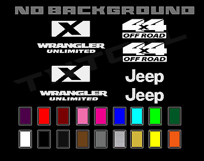 $20.78 • Buy Jeep Sport Wrangler Unlimited X 4x4 Off Road Rubicon Decal Set
