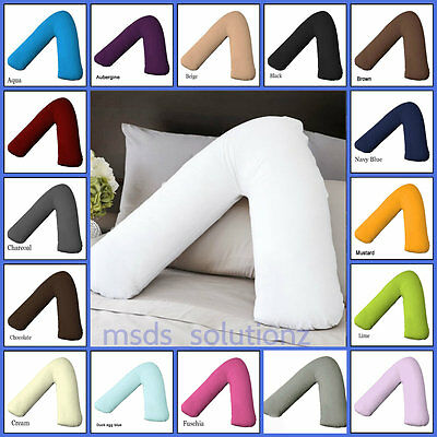 £3.45 • Buy V Shaped Pillow And Pillowcase/cover~Orthopedic Nursing Pregnancy Baby Support