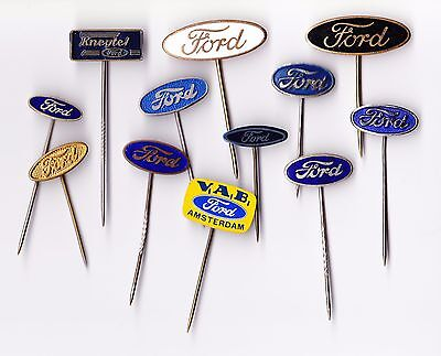Vintage Ford Oval Logo Pin Badge 1960s Tractor Truck Car Enamel Van Bus Dealer • 2.95£