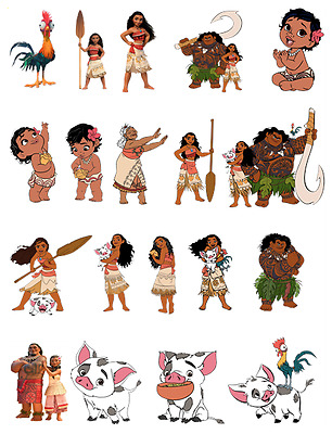 £2.95 • Buy Moana Birthday Edible Stand Up Cake Toppers Decorations Premium Wafer Card Uncut