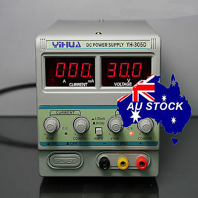 AU79.99 • Buy YIHUA 305D Variable Adjustable Power Supply Linear Mode 30V 5A Electronic Test