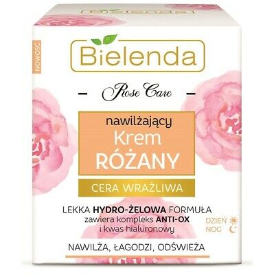 Bielenda Rose Care Moisturising And Soothing  Day Night Face Cream 50ml • 7.37£