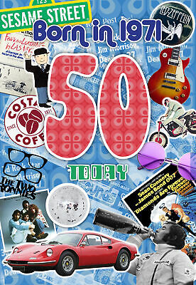£3.25 • Buy 50th Birthday Card 1971 Year You Were Born Male Year Facts Inside Card