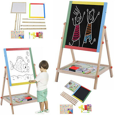 £19.99 • Buy Double Sided Children Drawing Board Standing Kid Painting Board Eraser Chalk Toy