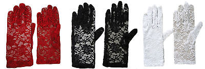 £2.49 • Buy Ladies Party Dress Prom Evening Wedding Bridal Short Lace Gloves