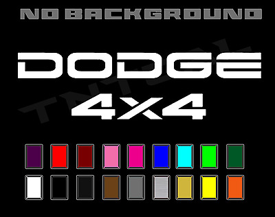 $12.37 • Buy Dodge Dakota Ram 4X4 Tailgate Truck Sport Off Road Decal Set Vinyl Stickers