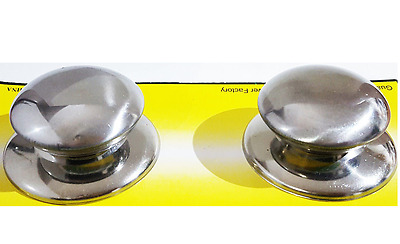 £2.99 • Buy  2Pcs Pot/Pan Lid Cover Handle Replacement Knobs Cookware All Metal