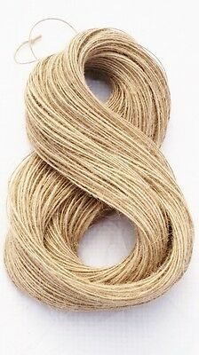 1Ply 1m-1000m Natural Brown Soft Jute Twine Sisal String Rustic Shabby Cord • 1.89£