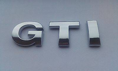 £4.95 • Buy New Chrome 3D Self-adhesive Car Letters Badge Emblem Sticker Spelling GTI
