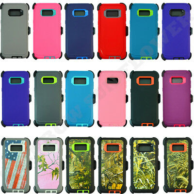 $ CDN15.25 • Buy For Samsung Galaxy S8 / S8 Plus Defender Case Cover W/ [Belt Clip Fits Otterbox]