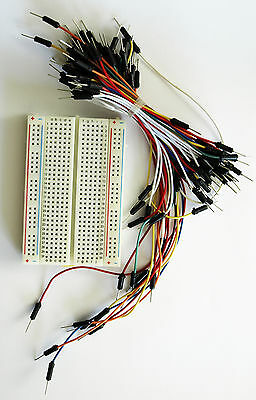 £4.95 • Buy Solderless Breadboard With Jumper Leads For Arduino, PIC, Electronic Circuits