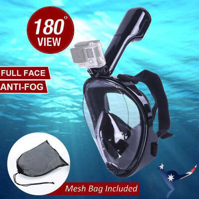 AU20.99 • Buy AU Full Face Diving Seaview Snorkel Snorkeling Mask Swimming Goggles For GoPro