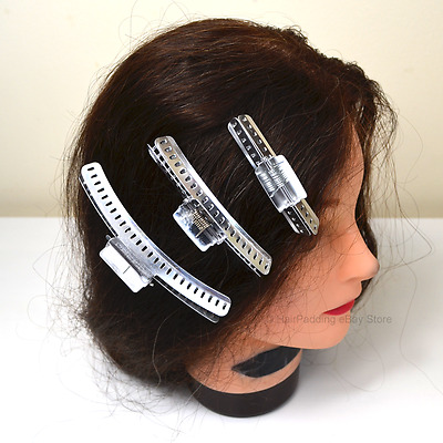 4 X Silver Alumininum 3  Hairdressing Clips /Vintage Style Clamps /Marcel Wave • 11£