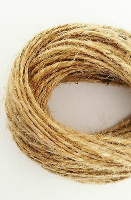 2Ply-2mm 1m-1000m Natural Brown Soft Jute Twine Sisal String Rustic Shabby Cord • 1.99£