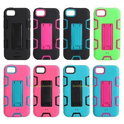 AU12.49 • Buy 3 In 1 Heavy Duty Armor Kickstand Phone Case Cover For IPhone 5C Samsung S4 S7